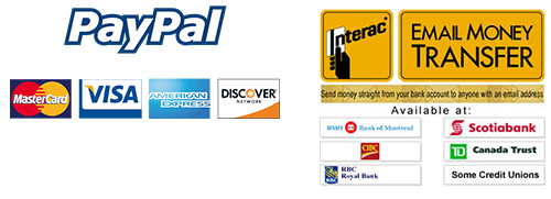 we accept paypal and email money transfer